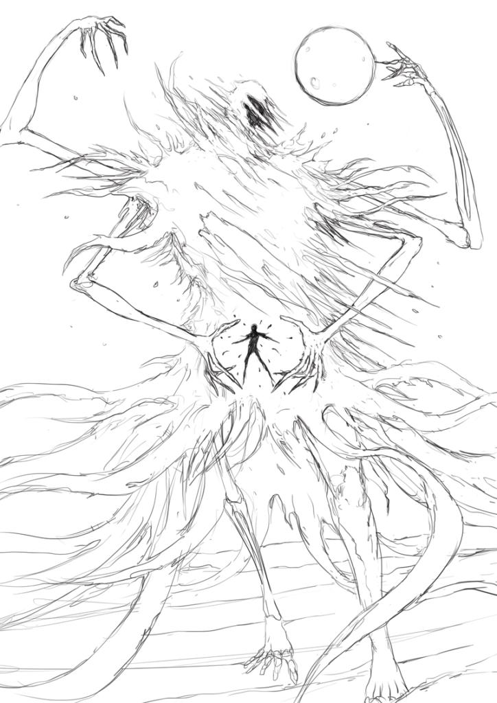 Concept art for the Despair beast.